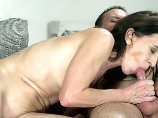 Youthfull Student Fucks Sexy Granny Viol And Cums In Her Mouth