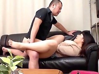 Munching Huge-titted Asian Gfs Raw Cunny While She Is On The Phone