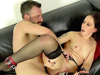 Bearded Man Fucks Classy Office Honey And Shows Her The Real Pleasure
