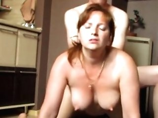 Red-haired Woman Fucked Rear End Style