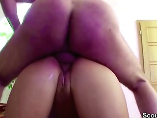 Hot Mummy Tempt Youthful Boy To Fuck When Dad Away