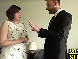 Chubby Lady Laura Louise Gets Mouth Fucked And Rough Orgy
