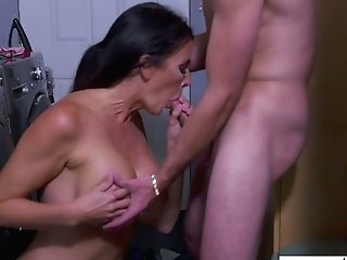 Bitchy Stepmom Reagan Foxx Gets Intimate With Her Stepson In The Laundry Room