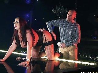 Buxom Bombshell Stripper Emma Butt Gets Jism On Her Humungous Tits