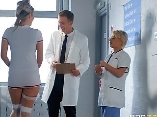 Cougar Njurse Uses Patient's Lollipop For Sexual Delectations