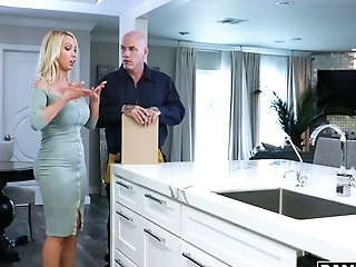 Bald Headed Plumber Bangs Smoking Hot Big-titted Housewife Nikki Benz