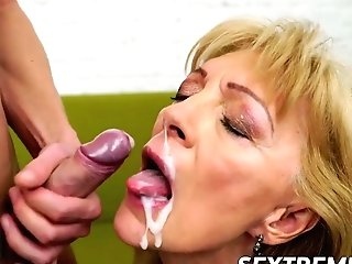 Nasty Granny Szuzanne Needs Olivers Boner To Bang Her Twat