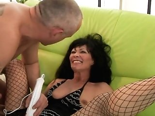 Matures Makes Boy Glad By Throating His Rock Solid Cane