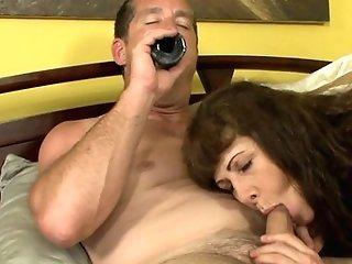 Dark-haired Alexandera Silk Shows Her Love For Contraption Sucking