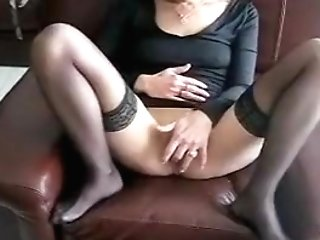 Crazy Homemade Clip With Stockings, Matures Scenes