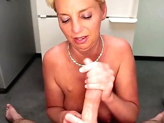 Horny Step Mom Is More Than Blessed To Suggest Hand Jobs