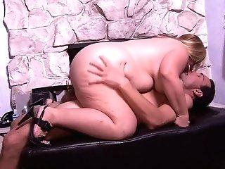 Curvy Blonde Matures Cassie Blanca Fucks A Hard Pecker By The Fireplace