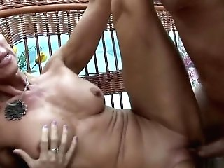 Desirable Blonde Cougar With A Flawless Booty Has Lovemaking With A Youthful Stud