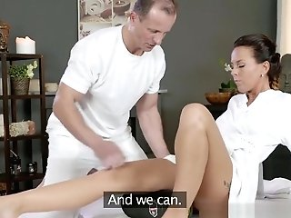 Rubdown Rooms Horny Cougar Wanks Gargles And Fucks Hard Dick Like A Pro
