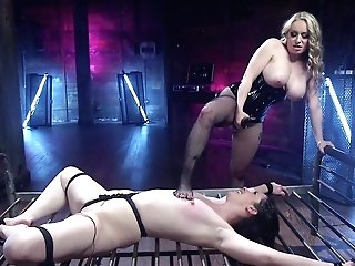 Pink & Aiden Starr In Gfs For The Day: Slavegirl Delightfully Electric Harassed - Electrosluts