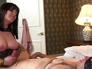 Man Eating Bitch Madeline Marlowe Puts On Strap On Dildo And Fucks Ass-fuck Fuck-hole Of Obedient Dude