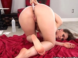 Kagney Jiggles Her Bum And She Enjoyments It With A Plaything - Baberotica