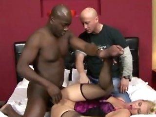 Blonde Wifey Fucked By A Black Boy
