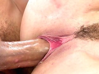 Dirty Cougar Attempts Rough Duty Woo In Both Crevices