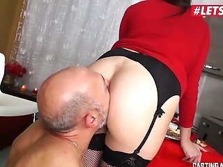 Letsdoeit- Buxomy Italian Mummy Gets Both Crevices Drilled At Casting