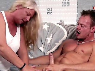 German Chubby Blonde Housewife Mom Seduced Son-in-law Bodo With Big Baps