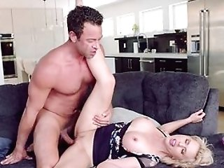 Cougar Perceives Neighbor's Gigantic Dick Fucking Her Way Nicer Than Her Hubby