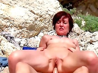 Outdoor Joy At The Beach With A Local Stud For The Naked Wifey