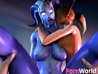 Three Dimensional Collection Of Games Sweet Cocksluts Fuck In Threesome