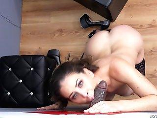 Gloryhole Is A Blast For Adorable Big Black Cock-loving Stunner Cherie Deville