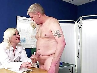 Old Fellow Gives This Blonde Nurse The Dick She Wants