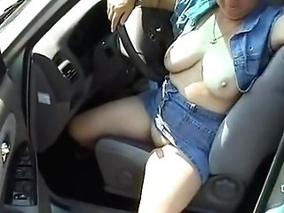 Driving Car Nude