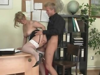 Office Fuck-a-thon With Lovely Old Women