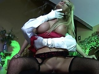 Smoking Hot Blonde Stunner Knows What A Perverse Man Likes The Most