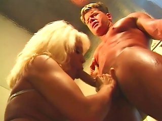 Sultry Blonde Cougar Hookup With Hunky Beau