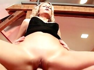 Hot Blonde Cougar Samantha Jolie Cannot Get Beef Whistle Deep Enough