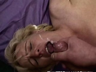 Blonde Big-chested Matures Fisted Fucked By Three Dudes