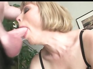 Big-titted Blonde An Filthy Gullet Face Fuck Gulp