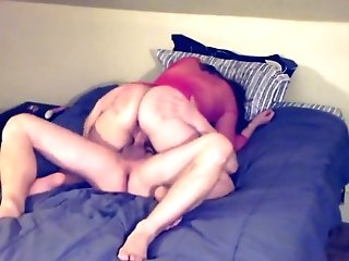 Step-sonny Teenager Catches Horny Cougar Masturbating She Deep Throats And Squirts