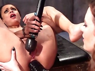 Holly Hendrix & Cherry Ripped In Rectal Asylum: Horny Nymphomaniac Patient Meets Identically Perverted Girl/girl Medic - Whippedass
