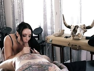 Mouth Watering Hooker Angela Milky Gives A Tit Job Before A Crazy Sausage Railing