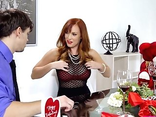 Crimson Haired Stepmom Dani Jensen Is Fucking Her Jaw-dropping Stepson