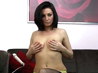 Black Haired Matures Mummy Roxanne Cox Masturbates With A Fuck Stick
