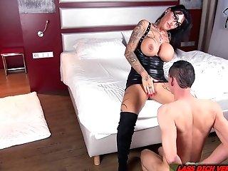 German Big Tits Female Dom Cougar Real Orgasm