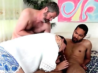 Crimson Haired Woman With Tattoos, Macy May Got Down And Dirty With Two Guys And Liked It