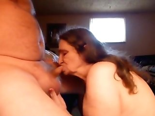 Sucking  My Mans Fuckpole Agian I Drool Spunk On It And Clean It Up