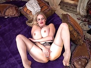 Kelly Madison Leans Over For A Lucky Paramour's Big Boner
