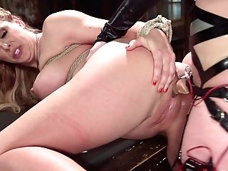 Cherry Ripped & Cherie Deville In Hot Spandex All Girl Electric Fuck-a-thon: Cherry Ripped Vs. Cherie Deville - Electrosluts