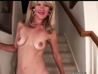 Blonde Mummy Demonstrate Her Big Nips And Tasty Slit