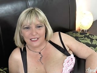 Big-titted Blonde Matures Lady Fucking Hard With Two Guys From Escort Service