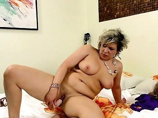 Matures Woman Angel Is Finger Fucking And Frolicking Her Old Threadbare Out Snatch